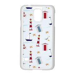 Seaside Beach Summer Wallpaper Samsung Galaxy S5 Case (white)