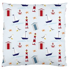 Seaside Beach Summer Wallpaper Large Flano Cushion Case (two Sides)
