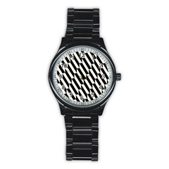 Hide And Seek Malika Stainless Steel Round Watch