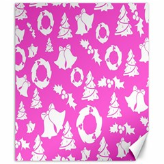 Pink Christmas Background Canvas 20  X 24   by Nexatart
