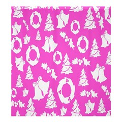 Pink Christmas Background Shower Curtain 66  X 72  (large)
