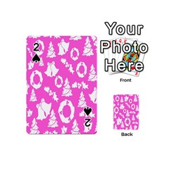 Pink Christmas Background Playing Cards 54 (mini)