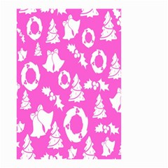 Pink Christmas Background Small Garden Flag (two Sides)
