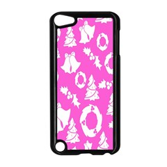 Pink Christmas Background Apple Ipod Touch 5 Case (black)