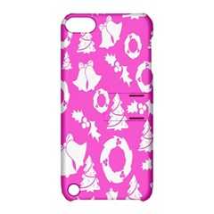 Pink Christmas Background Apple Ipod Touch 5 Hardshell Case With Stand by Nexatart