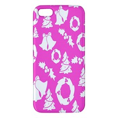 Pink Christmas Background Apple Iphone 5 Premium Hardshell Case
