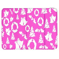 Pink Christmas Background Samsung Galaxy Tab 7  P1000 Flip Case