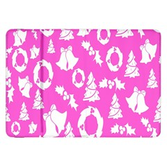 Pink Christmas Background Samsung Galaxy Tab 8 9  P7300 Flip Case