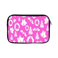 Pink Christmas Background Apple Ipad Mini Zipper Cases
