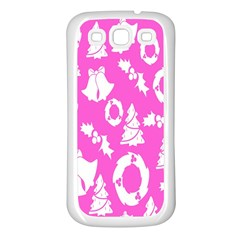 Pink Christmas Background Samsung Galaxy S3 Back Case (white)
