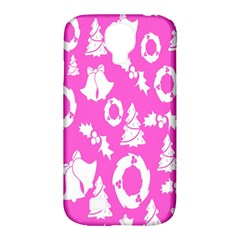 Pink Christmas Background Samsung Galaxy S4 Classic Hardshell Case (pc+silicone)