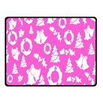 Pink Christmas Background Double Sided Fleece Blanket (Small)  45 x34 Blanket Front