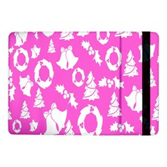 Pink Christmas Background Samsung Galaxy Tab Pro 10 1  Flip Case