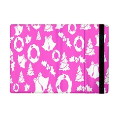 Pink Christmas Background Ipad Mini 2 Flip Cases
