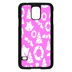Pink Christmas Background Samsung Galaxy S5 Case (black)