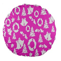 Pink Christmas Background Large 18  Premium Flano Round Cushions