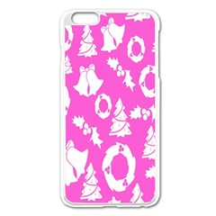 Pink Christmas Background Apple Iphone 6 Plus/6s Plus Enamel White Case