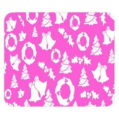 Pink Christmas Background Double Sided Flano Blanket (small)