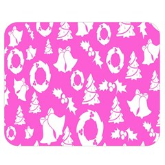 Pink Christmas Background Double Sided Flano Blanket (medium)