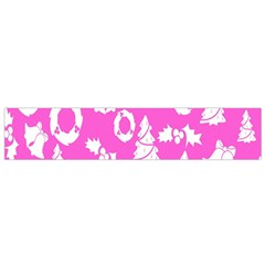 Pink Christmas Background Flano Scarf (small)