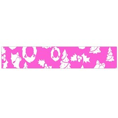 Pink Christmas Background Flano Scarf (large)