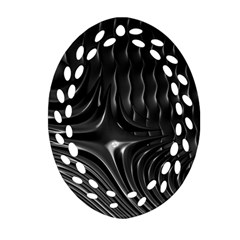 Fractal Mathematics Abstract Ornament (oval Filigree)