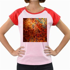 Ethnic Pattern Women s Cap Sleeve T Shirt by Nexatart