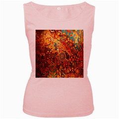 Ethnic Pattern Women s Pink Tank Top by Nexatart