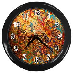 Ethnic Pattern Wall Clocks (black) by Nexatart