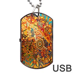 Ethnic Pattern Dog Tag Usb Flash (one Side)