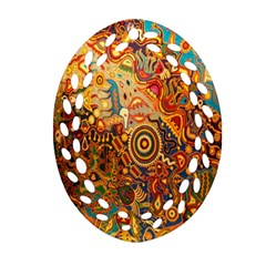 Ethnic Pattern Oval Filigree Ornament (two Sides)