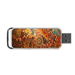 Ethnic Pattern Portable Usb Flash (one Side)