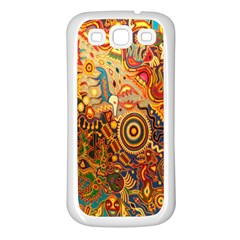 Ethnic Pattern Samsung Galaxy S3 Back Case (white)
