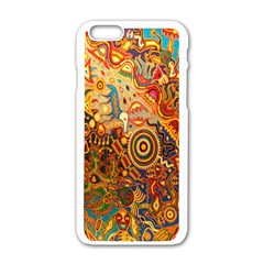 Ethnic Pattern Apple Iphone 6/6s White Enamel Case
