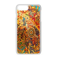 Ethnic Pattern Apple Iphone 7 Plus White Seamless Case