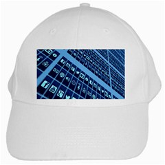 Mobile Phone Smartphone App White Cap