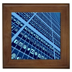 Mobile Phone Smartphone App Framed Tiles