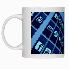Mobile Phone Smartphone App White Mugs