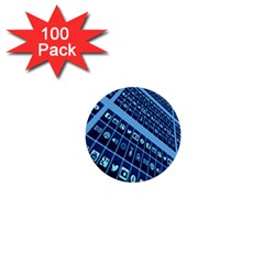 Mobile Phone Smartphone App 1  Mini Buttons (100 Pack)