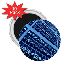 Mobile Phone Smartphone App 2 25  Magnets (10 Pack)