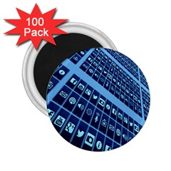 Mobile Phone Smartphone App 2 25  Magnets (100 Pack)