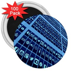 Mobile Phone Smartphone App 3  Magnets (100 Pack)