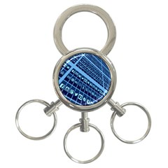 Mobile Phone Smartphone App 3 Ring Key Chains
