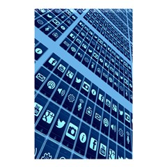 Mobile Phone Smartphone App Shower Curtain 48  X 72  (small)  by Nexatart