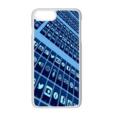 Mobile Phone Smartphone App Apple Iphone 7 Plus White Seamless Case