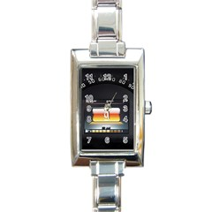 Interior Car Vehicle Auto Rectangle Italian Charm Watch