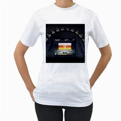 Interior Car Vehicle Auto Women s T Shirt (white) (two Sided)