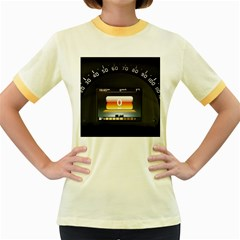 Interior Car Vehicle Auto Women s Fitted Ringer T Shirts