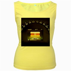 Interior Car Vehicle Auto Women s Yellow Tank Top