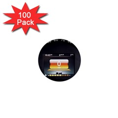 Interior Car Vehicle Auto 1  Mini Buttons (100 Pack)